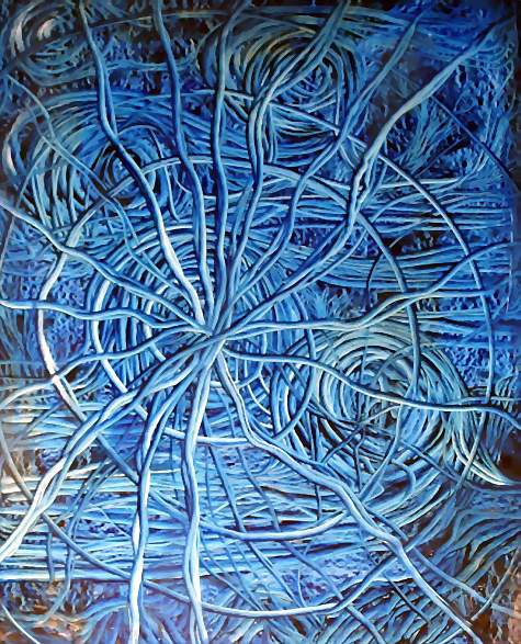 Mimosa, Malerei
