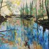 Frühling, Landschaft, Expressionismus, Ölmalerei