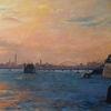 Venedig, Sonnenuntergang, Meer, Schiff