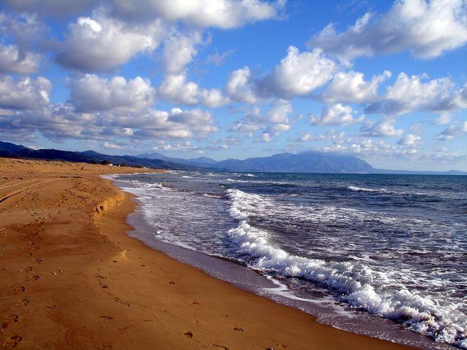 Sand, Peloponnes, Wolken meer, Griechenland, Fotografie,