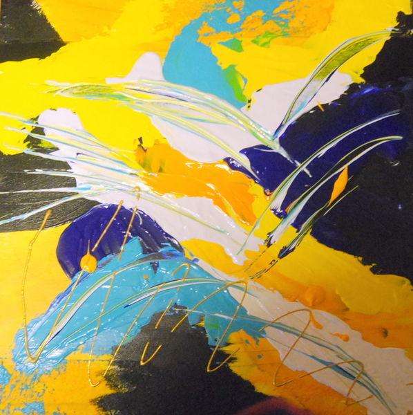 Farben, Acrylmalerei, Malerei, Schwarz, Mischtechnik
