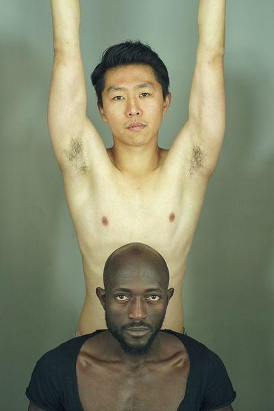 Afrikaner, Chinese, Entschlossenheit, Tänzer, Geste, Fotografie