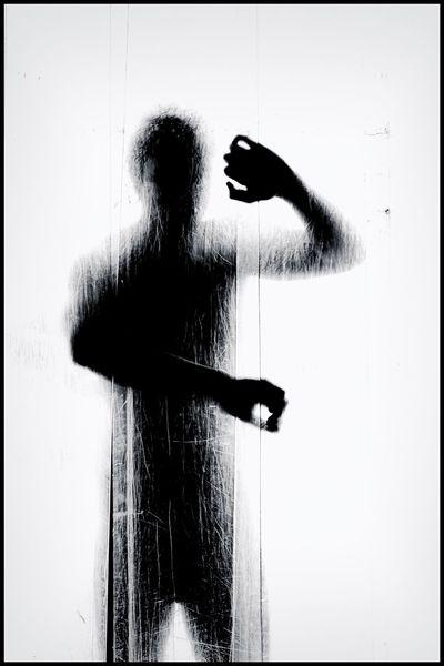 Mann, Schwarz weiß, Silhouette, Fotografie