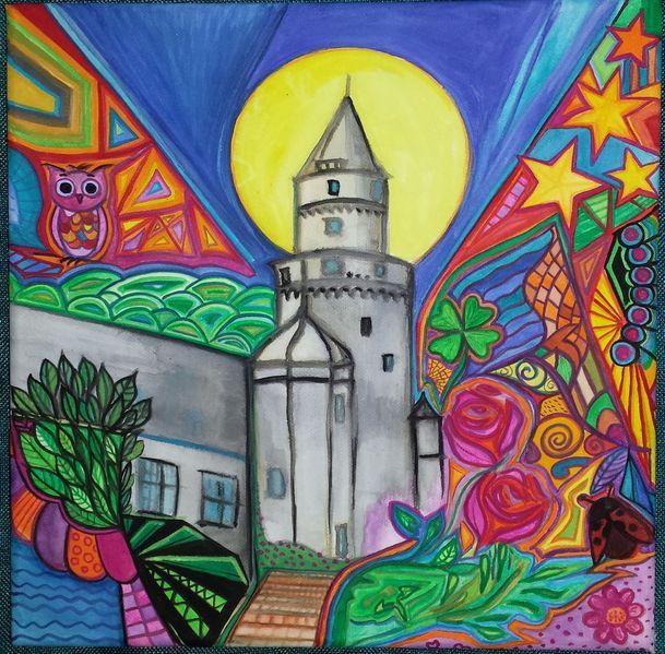 Eule, Wasserfarben, Kleeblatt, Farben, Hexenturm, Marienkäfer