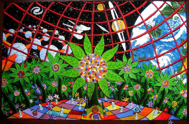 Garten, Planet, Blumen, Enterprise, Malerei, Phantasiebilder