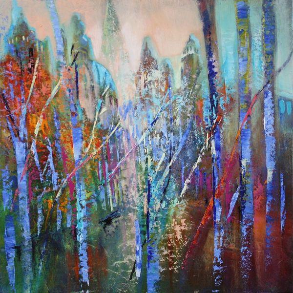 Komposition, Hell, Horizont, Abstrakt, Gemälde, Traum