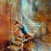 Ballett, Balance, Treppe, Tanz