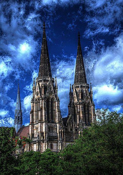 Himmel, Baum, Kirche, Stuttgart, Wetter, Fotografie