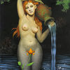 Frauenkörper, Schönheit, Krug, Acrylmalerei