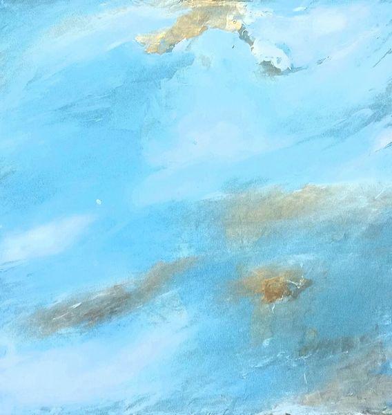 Fantasie, Blau, Abstrakt, Malerei