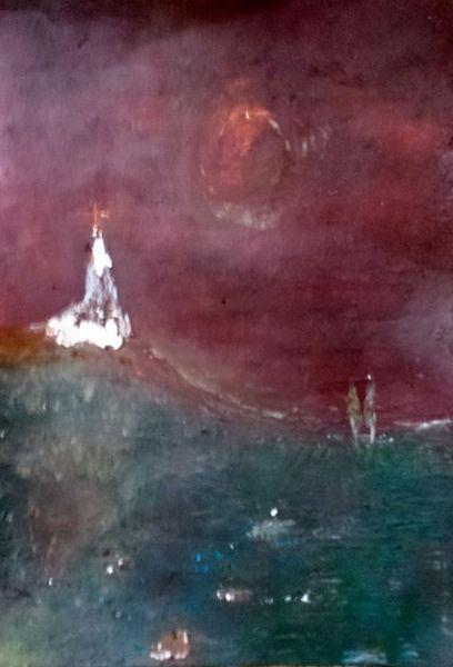 Malerei, Gang, Kirche