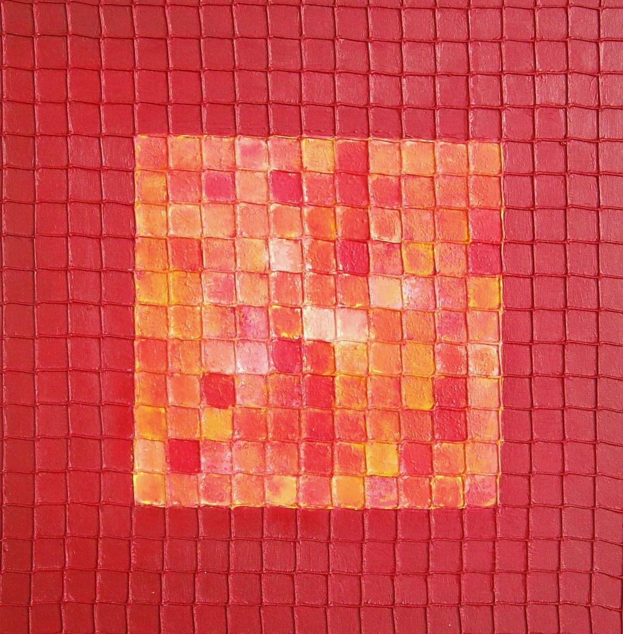Puzzle in Rot - Orange, Spiel puzzle, Roter rahmen, Gedächtnis von ...