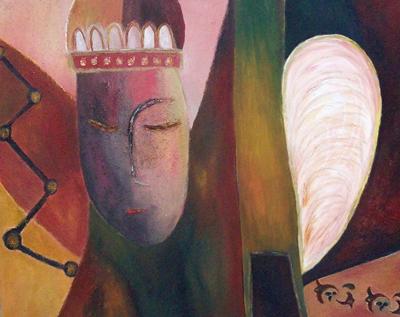 warme farben malerei, träumender könig - harmonisch, warme farben, malerei, könig von, Innenarchitektur