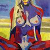Schön, Strand, Aktmalerei, Abstrakt