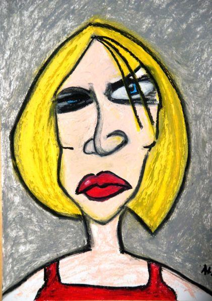 Böse, Lehrerin, Blick, Illustrationen