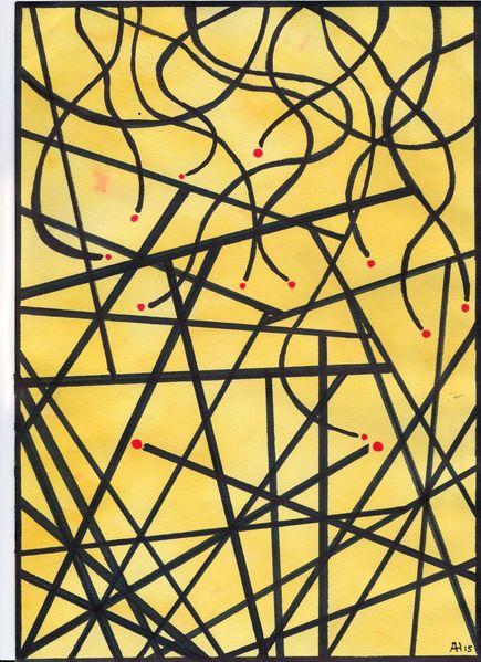 Rote augen, Geometrie, Zeichnungen,