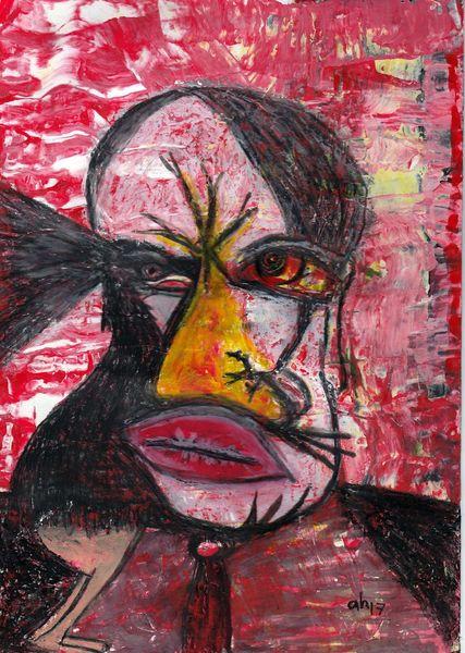 Kommunikation, Affektmalerei, Odin, Munin, Verstehen, Malerei
