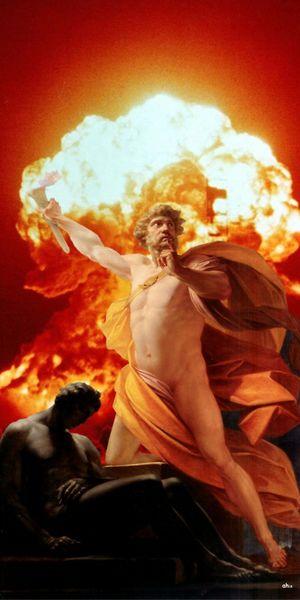 Prometheus, Feuer, Heinrich fueger, Menschheit, Digitale kunst