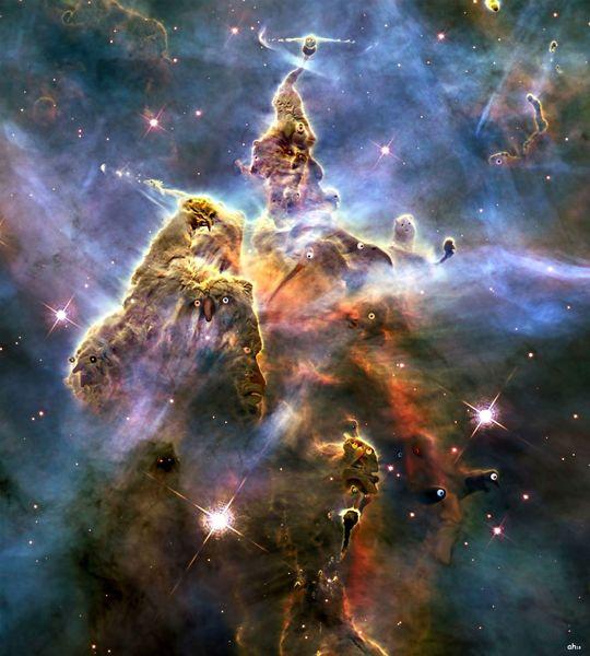 Universum, Nebel, Stern, Hubblefoto, Illustrationen,