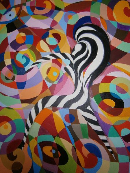 Abstrakt, Malerei, Sicht