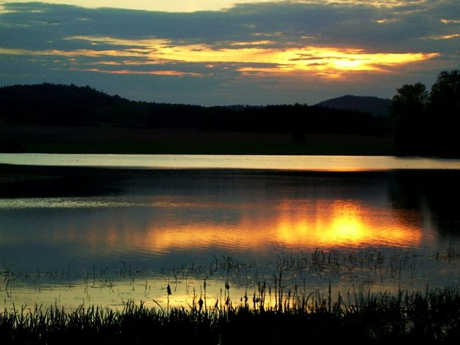 Bunt, Wasser, Dämmerung, Himmel, Spiegelung sonnenuntergang, Abend