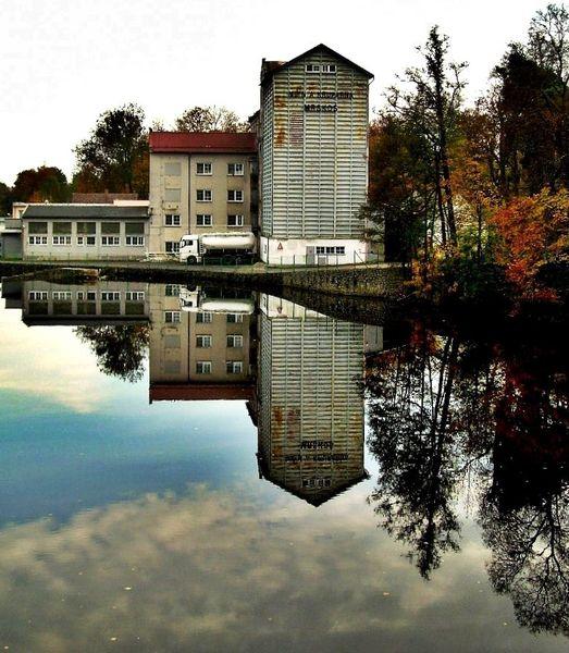 Spiegel, Flauen, Mühle, Wasser, Architektur, Fotografie
