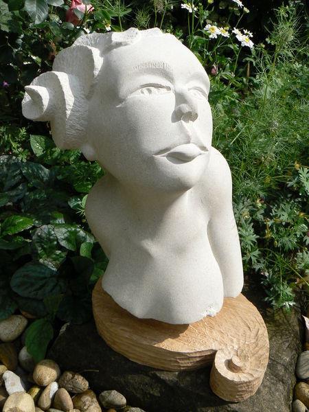 Eichen, Frau, Stein, Akt, Plastik, Stein skulpturen