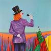 Expressive malerei, Zeitgenössische kunst, Pop art, Rot