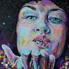 Spachteltechnik, Acrylfarben, Zeitgenössische kunst, Portrait