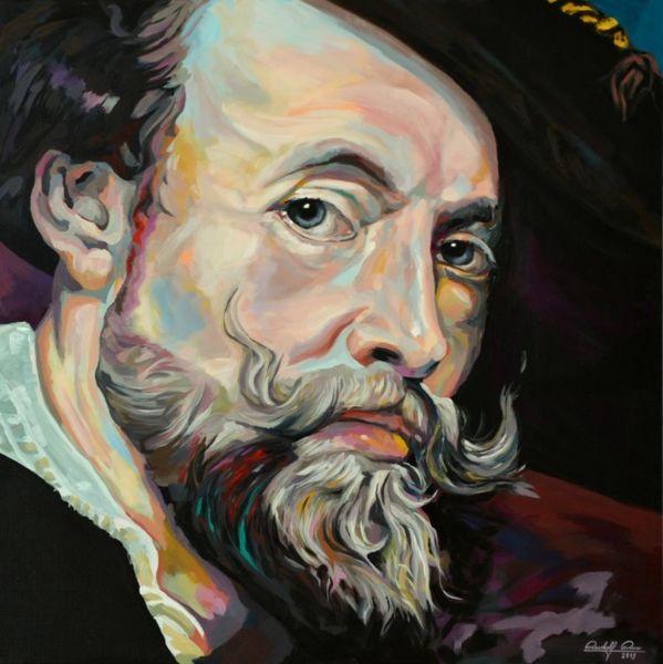 Acrylmalerei, Portrait, Zeitgenössisch, Malerei, Gemälde, Rubens