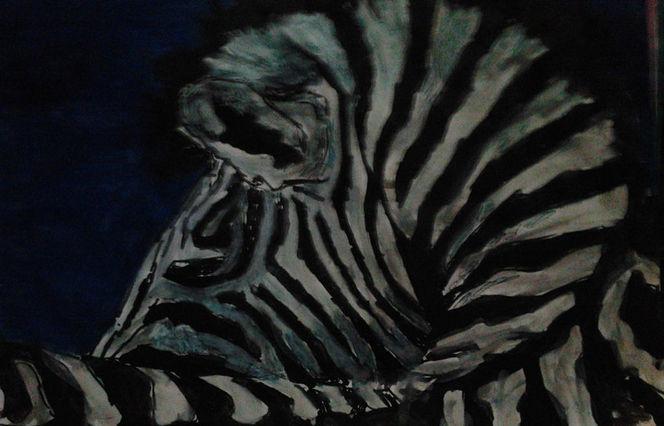 Zebra, Aquarellmalerei, Aquarell