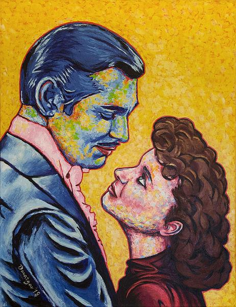 Orang, Spachtel, Portrait, Person, Liebe, Blau