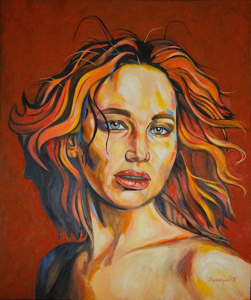 Person, Frau, Orang, Malerei, Portrait, Akt