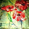 Moonblumen, Spachtelarbei, Blumen, Malerei