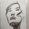Asiatisch, Rötel, Gesicht, Zeichnungen