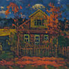 Wolken, Haus, Landschaft, Impressionismus