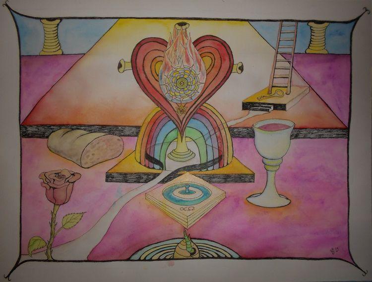 Brot, Liebe, Way to god, Himmel, Wein, Jesus
