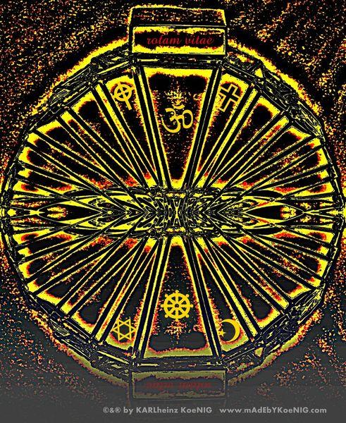 Symbol, Lebensrad, Hindismus, Krishna, Sakralkunst, Esoterik