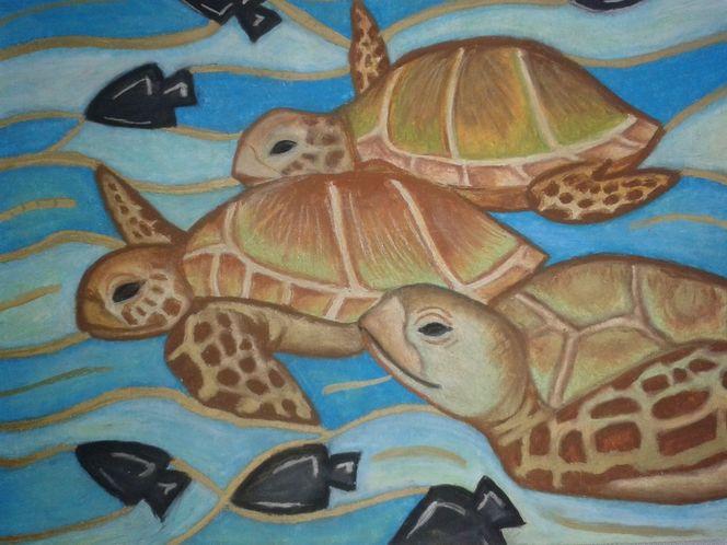 Malerei, Unterwasserwelten, Meer