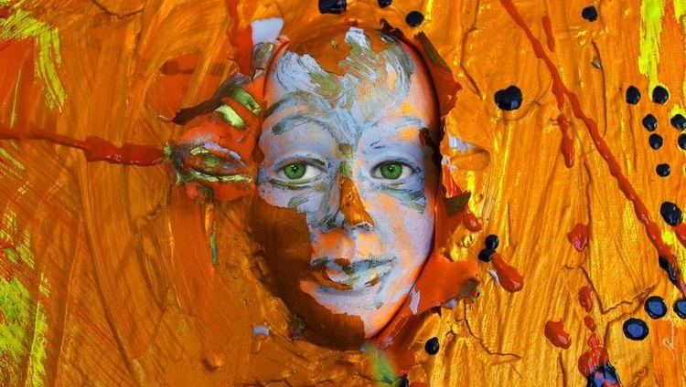 Maske, Farben, Abstrakt, Gesicht, Malerei,