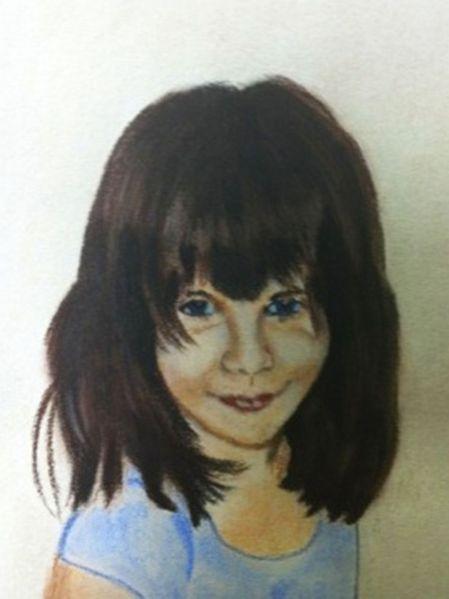 Pastellmalerei, Zeichnung, Kinderportrait, Zeichnungen, Menschen,