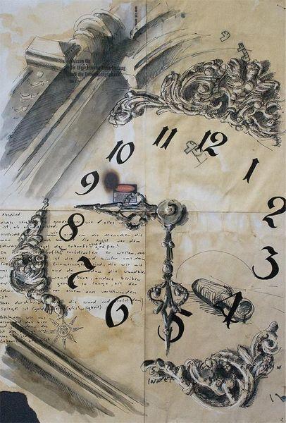 Technik, Zeit, Illustrationen, Architektur mensch, Uhr