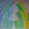 Aquarellmalerei, Stadt, Viereck, Aquarell