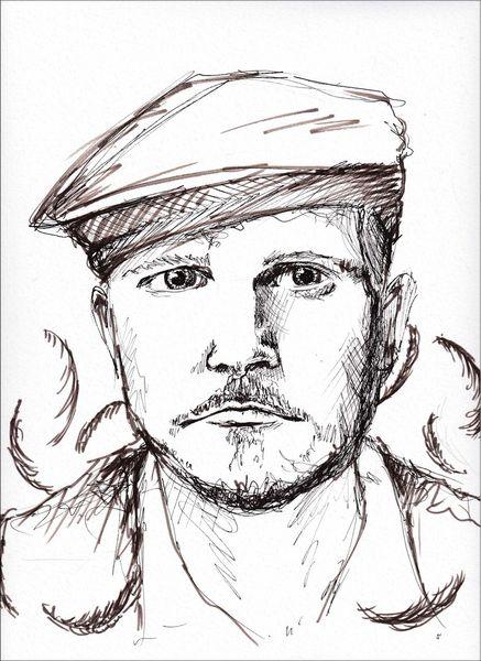 Mann, Portrait, Herr von grau, Gesicht, Zeichnung, Zeichnungen
