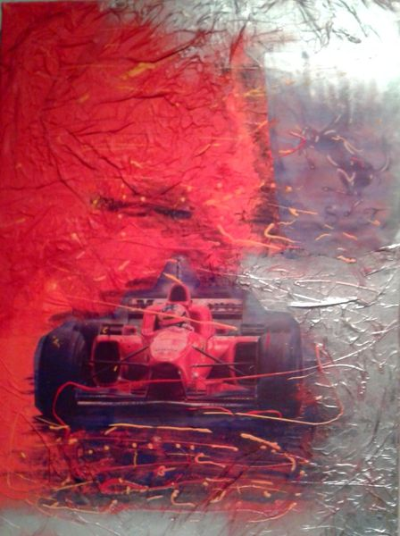 Auto, Collage, Ferrari, Sport, Mischtechnik