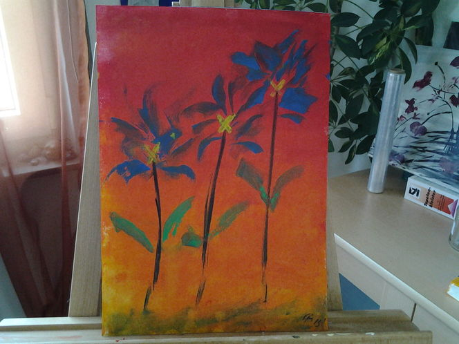 Blumen, Fantasie, Abstrakt, Malerei, Natur