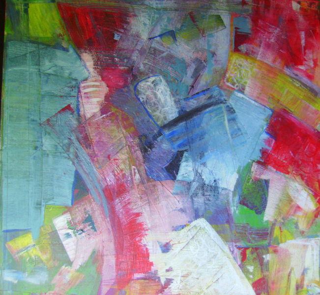 Malerei, 2008, Acrylmalerei, Mischtechnik