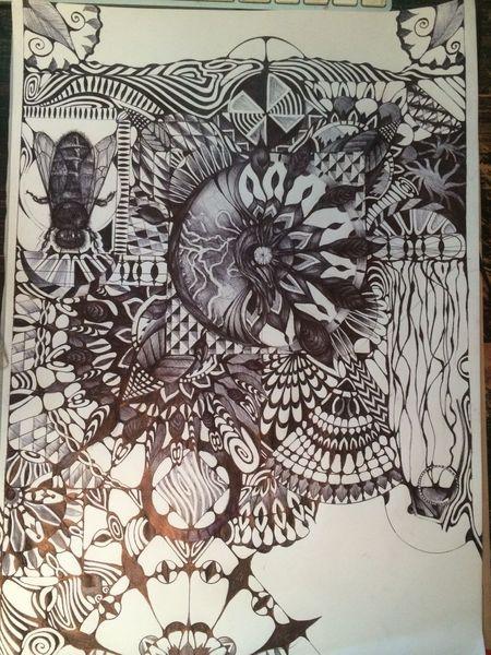 Zeichnung, Zeichnen, Abstrakt, Kugelschreiber, Zeichnungen,