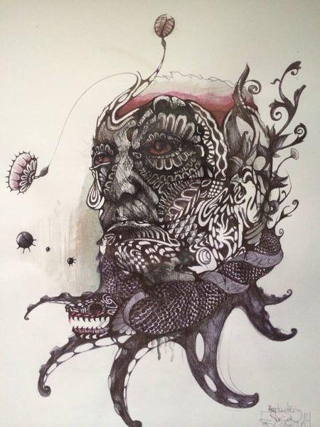 Tiere, Zeichnung, Menschen, Illustration, Blut, Rotwein