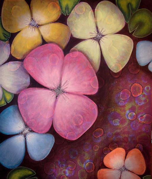 Blüte, Hawaii, Frühling, Malerei